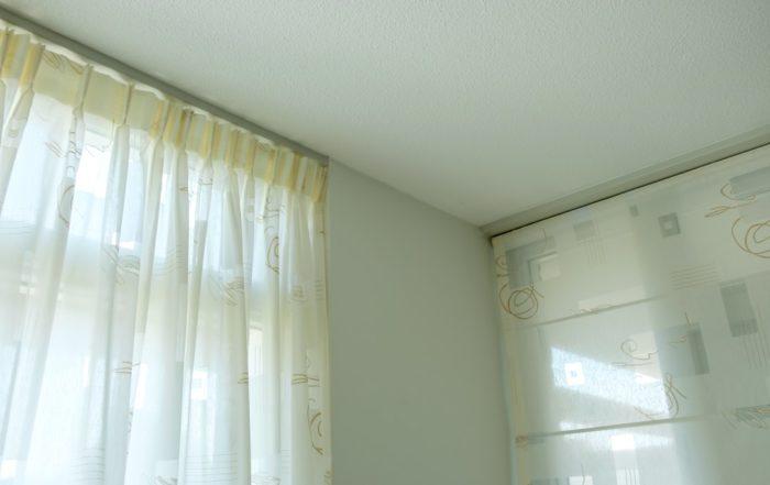 Binnenschilderwerk - raamdecoratie woonkamer
